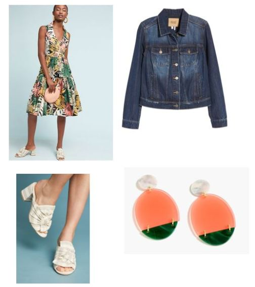 anthropologie foliage dress day look